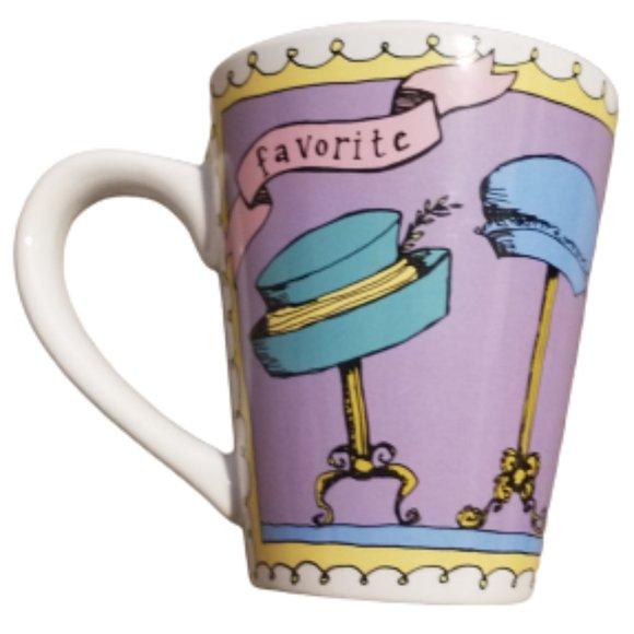 Favorites by Ursula Dodge | My Favorite Hats Coffee Mug Tea Cup | Purple Multi